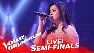 hnin eaindray shin မနဲ႔ေမာင္ live semi final the voice myanmar 2018
