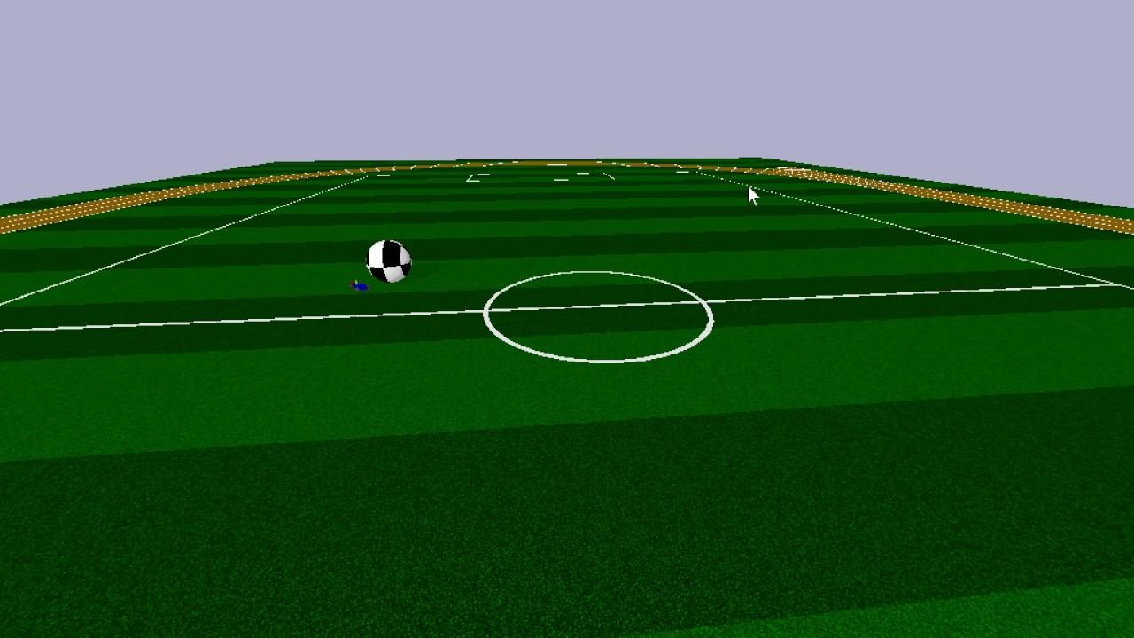 self-driving RC racecar (RL, DQN) chasing a ball:  pybullet+gym+baselines+tensorflow
