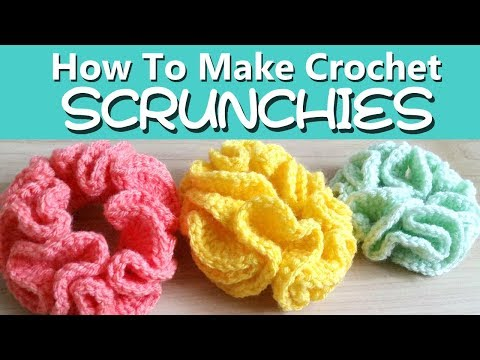 how-to-make-crochet-hair-scrunchies---two-ways!-[easy]