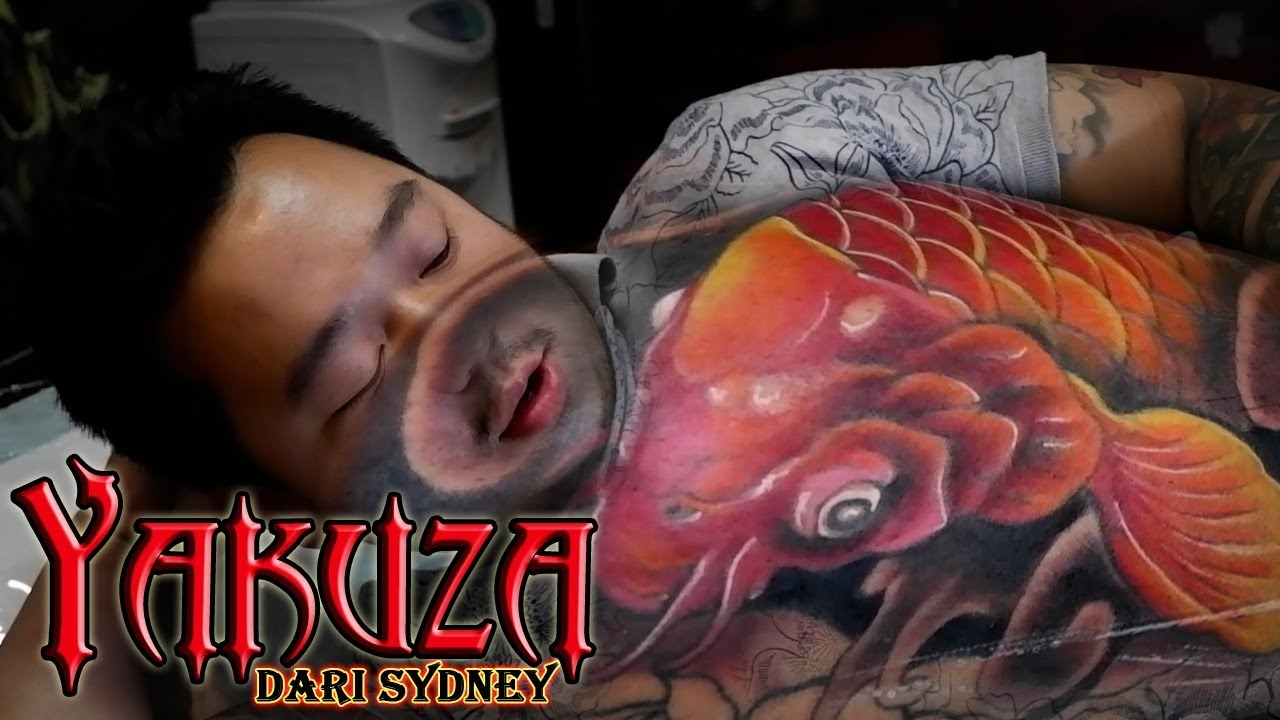 Time Lapse Hendric Shinigami Yakuza Tattoo From Sydney Youtube