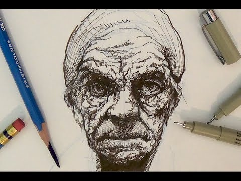 Pen and ink drawing tutorials portrait drawing demonstration i pen and ink drawing tutorials portrait drawing demonstration i ccuart Image collections