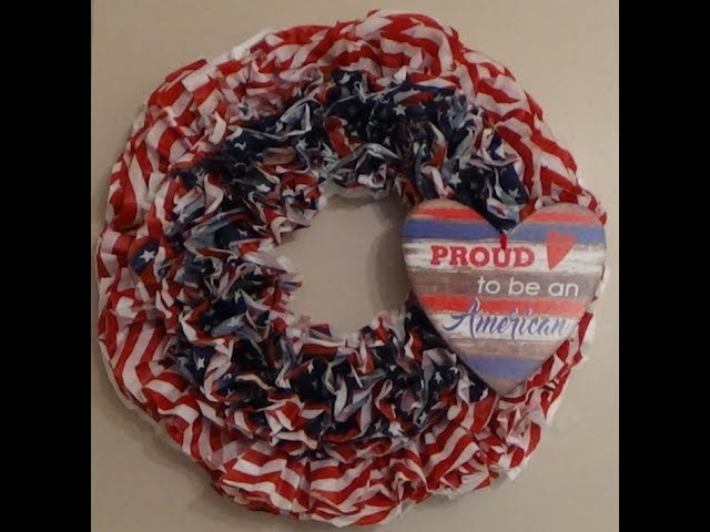 Dollar Tree Diy Wreath 4th Of July Using Plastic Table Covers You - How To Make A Plastic Tablecloth Wreath