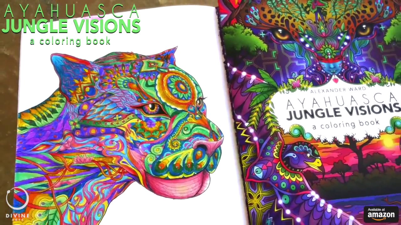 Ayahuasca Coloring Book Time Lapse Jaguar Youtube