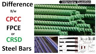 Difference between CPCC, FBEC and CRSD bars
