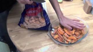 Картофель с рыбой в духовке.
