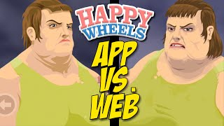 APP VS. WEB VERSION [HAPPY WHEELS] [MADNESS!]