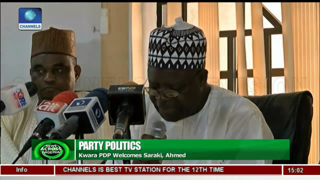 Kwara PDP Welcomes Saraki, Gov Ahmed |News Across Nigeria|