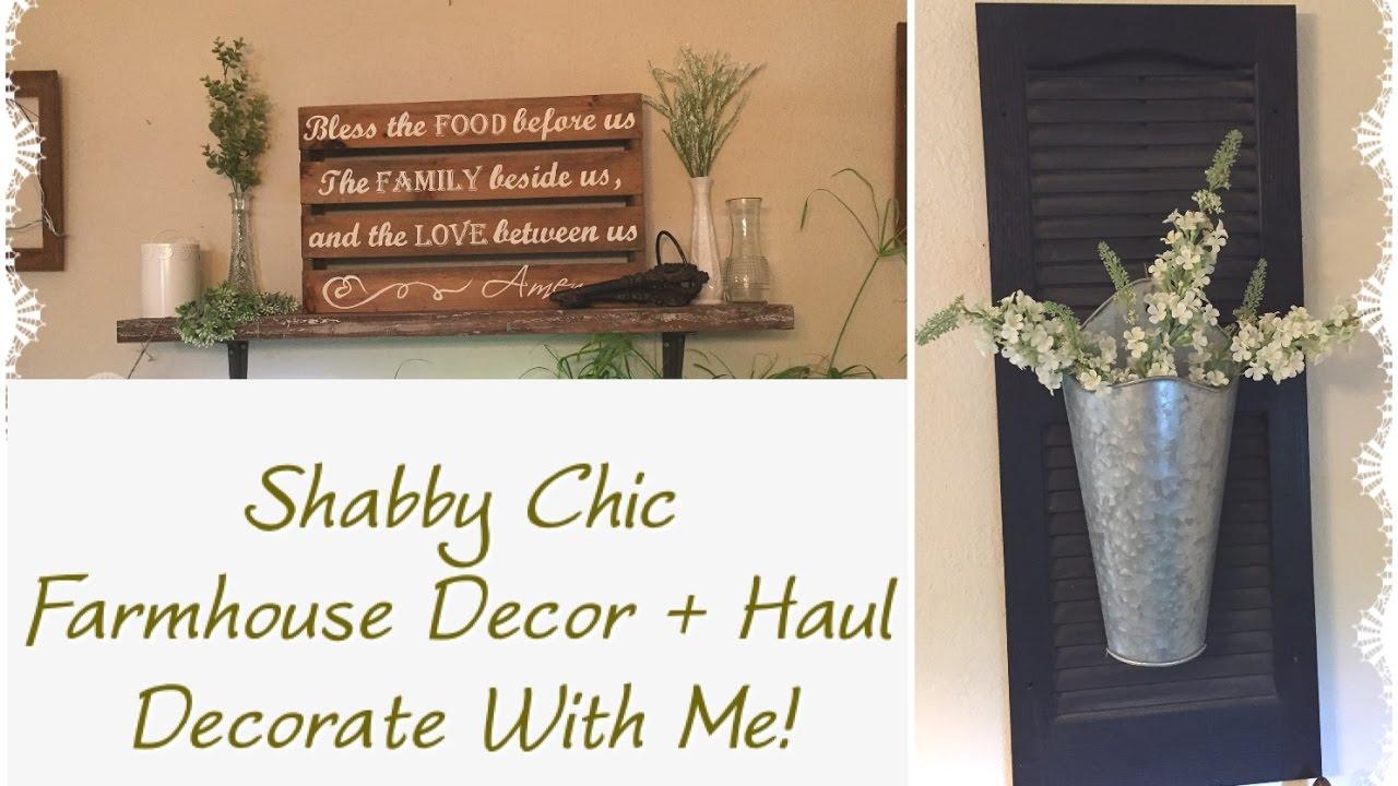 Shabby Chic Farmhouse Decor