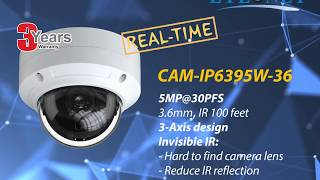 EYEONET IP 5MP@30FPS Real Time Camera (IP6395W-36)