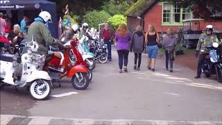 Torbay Mods Scooter Club at Oktoberfest River Dart Country Park 2017