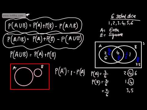 S1 Statistics Probability 3 Addition Law Venn Diagrams Rule