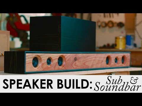 2.1-soundbar-system-with-sub-|-diy-speaker-build