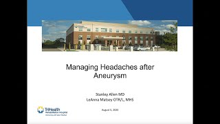 Managing Headaches After Aneurysm