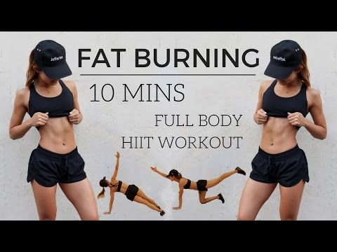10 min Full Body HIIT Workout - FAT BURNING No Equipment | 1