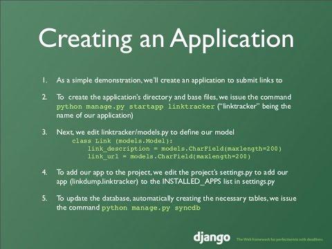 Django Tutorial - Create an application using python