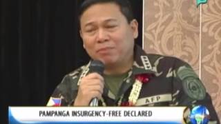 NewsLife: Pampanga insurgency-free declared || Jan. 15, 2014