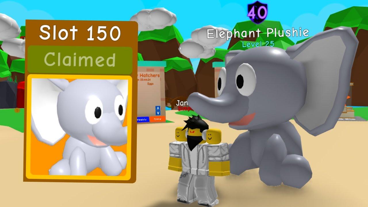 Unlocking The Elephant Plushie In Bubble Gum Simulator Youtube