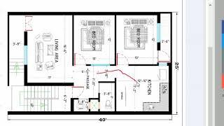 25x40 feet best house plan