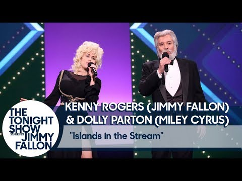Jimmy Fallon and Miley Cyrus Recreate Kenny Rogers and Dolly Parton's 'Islands in the Stream'