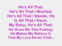 Cascada. Hes All That. With Lyrics.