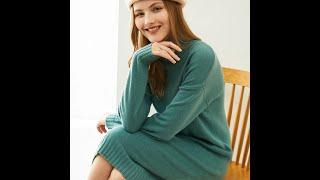 Adishree 2021 женские зимние 100 кашемировые свитера осенние вязаные пуловеры платья теплые