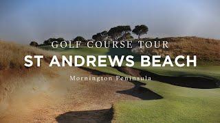Flyover of St Andrews Beach Golf Course, Mornington Peninsula, Victoria, Australia