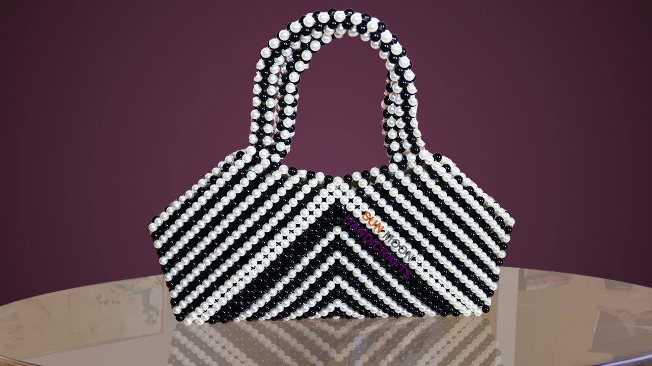প ত র ব য গ How To Make Beaded Zebra Bag Beaded Bag