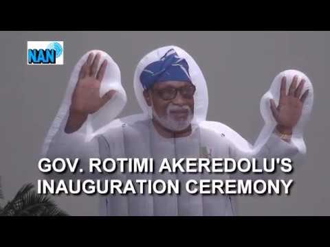 Sights & Sounds of Gov. Akeredolu's Inauguration in Ondo