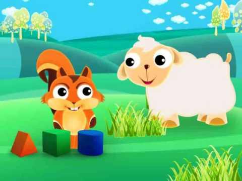 Cartoon squirrel animation for babies
