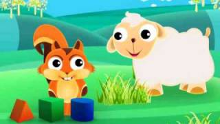 Cartoon squirrel animation for babies