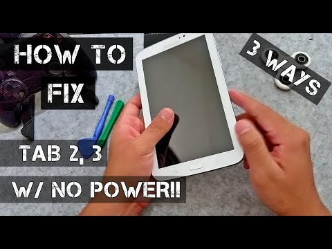 How To FIX Samsung Galaxy Tab 2, 3 /DOESN'T TURN ON/ [2018]