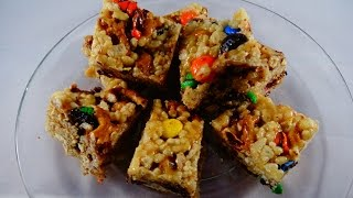 Pretzel And Candy Rice Krispies Bars- With Yoyomax12