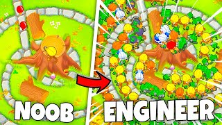 Using an ENGINEER ARMY to beat Bloons!