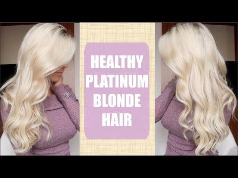 Platinum Blonde Hair   How to keep it HEALTHY