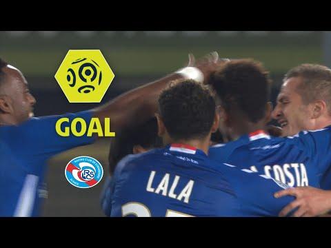 Goal Jean Eudes AHOLOU (31') / RC Strasbourg Alsace - Olympique de Marseille (3-3) / 2017-18