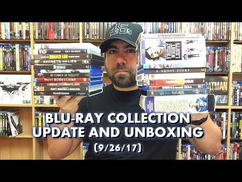 BLURAY COLLECTION UPDATE AND UNBOXING (9/26/17)