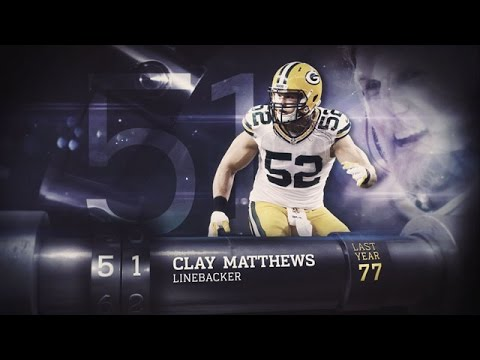 #52 Clay Matthews (LB, Packers) | Top 100 Players of 2015