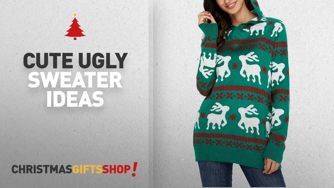 Christmas Cute Ugly Sweater Ideas: LOSRLY Women Ugly Christmas ...