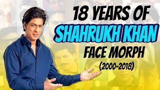 "Face Morph of Shahrukh Khan from 2000 to 2""ZERO""18."