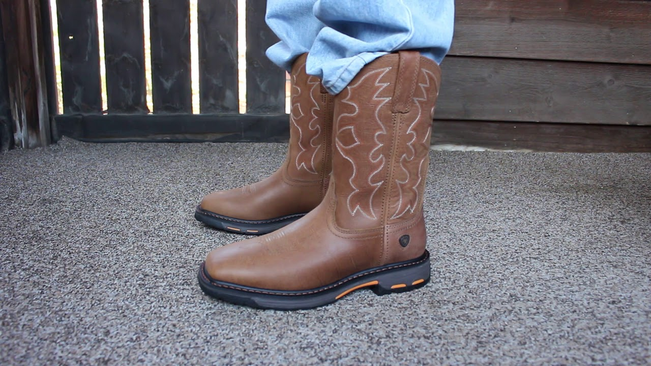 f65ffb3a8c5 Ariat Workhog Wide Square Toe Boots - YouTube