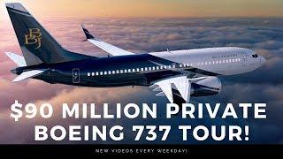 $90 million Boeing BBJ MAX7 Cabin Tour