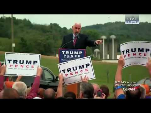 Mike Pence POST Debate Rally In Harrisburg Pa FULL Speech 10/5/16
