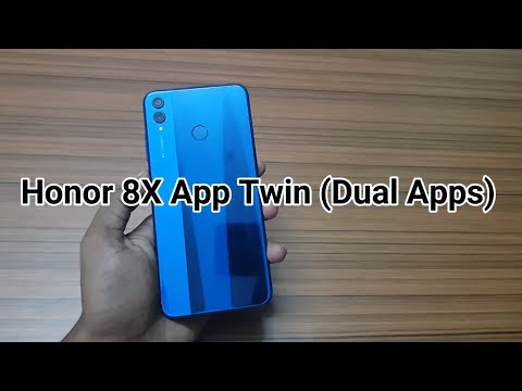 Honor 8X : How to use App Twin ( Dual Apps) - YouTube
