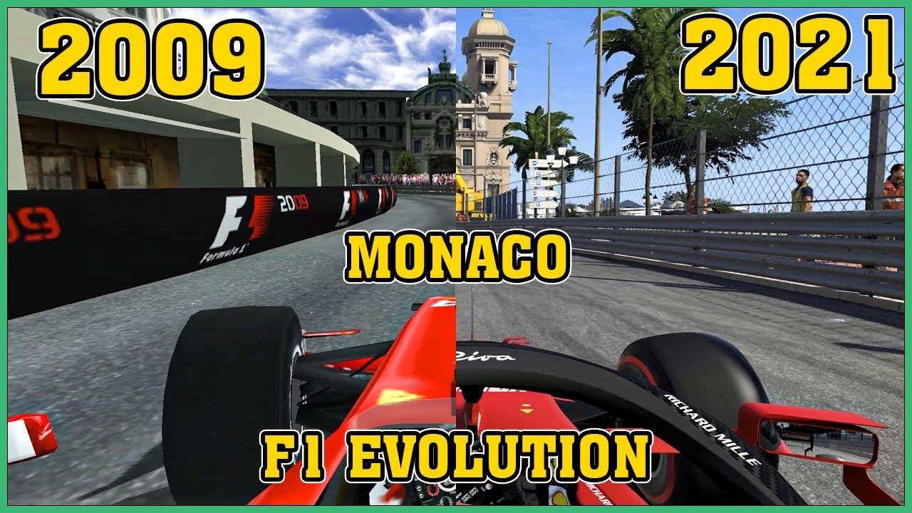 Monaco the evolution in F1 Codemasters [F1 09 - F1 21]