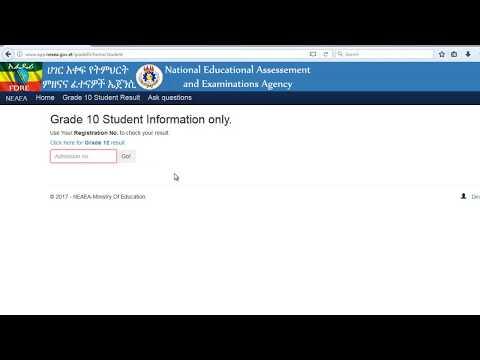 Ethiopia Exam National Result 2019 2020