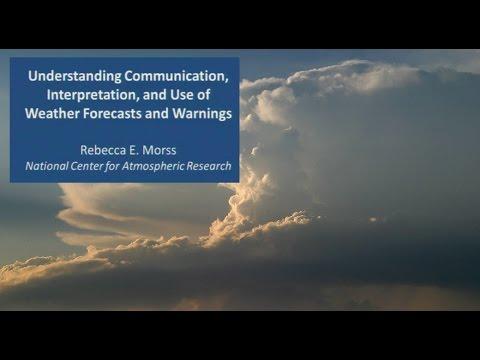 Communication of Weather Forecasts