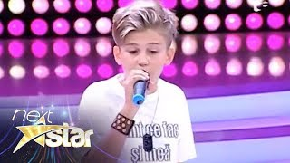 "Oscar - demonstratie de rap pe scena ""Next Star"""