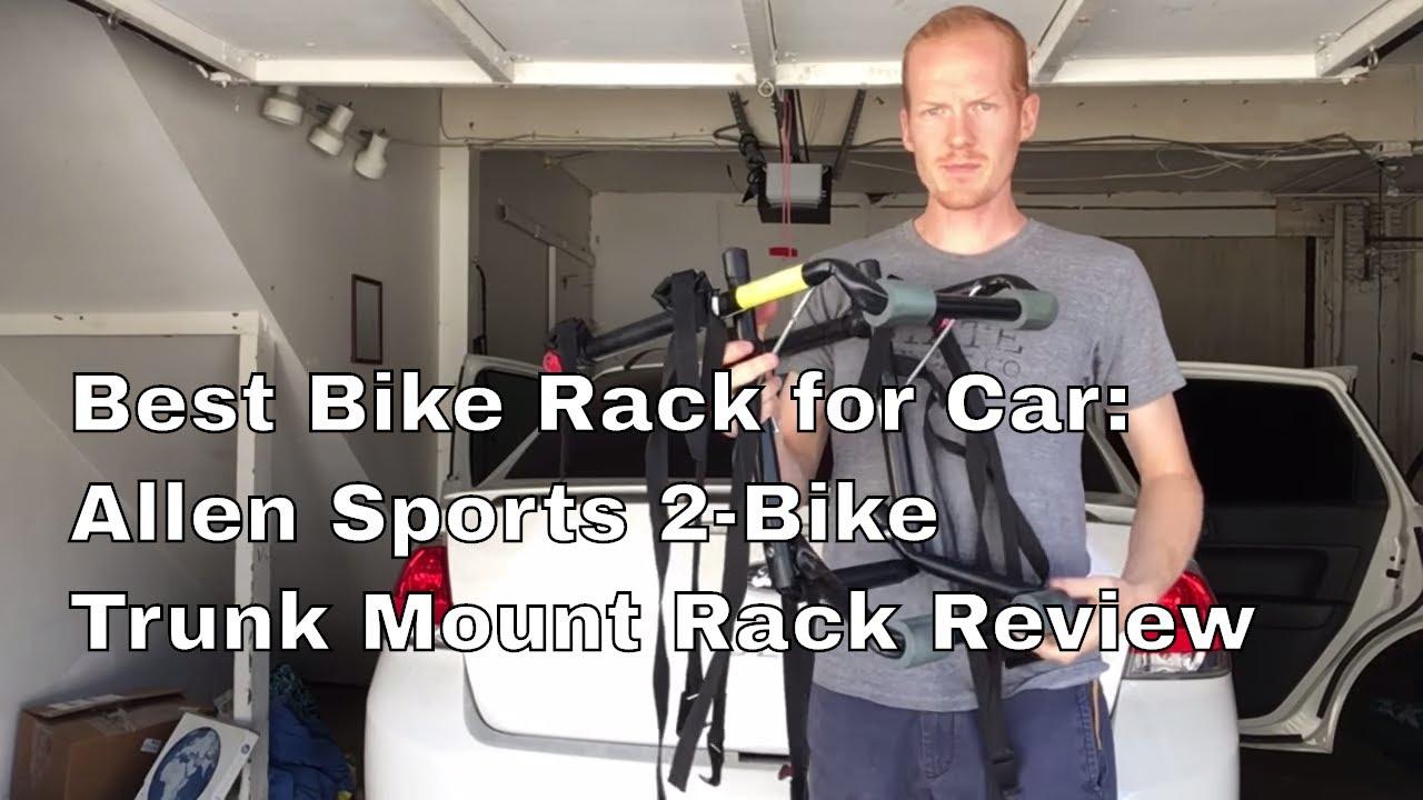 best bike rack for car allen sports 2bike trunk mount rack review