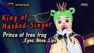 [King of masked singer] 복면가왕 - 'Prince of tree frog' defensive stage - EYES,NOSE,LIPS 20171119