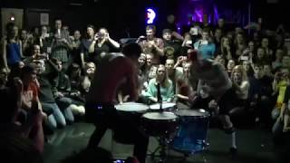 RARE twenty one pilots duel drumming in a tiny crowd (2013)